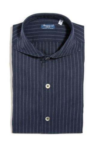 Finamore Ventura Washed Broadcloth Dress Shirt