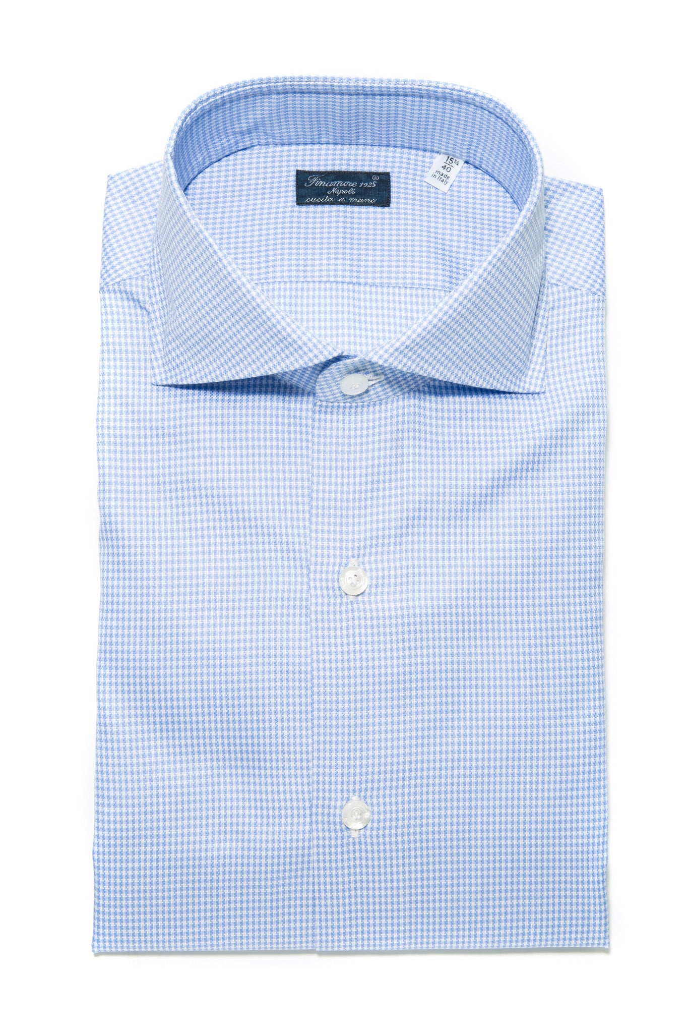 Finamore Bernandino Houndstooth Dress Shirt (321127809048)