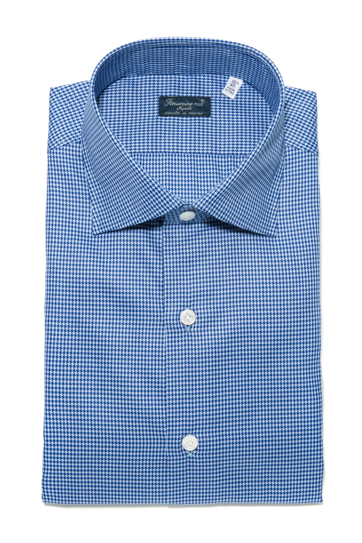 Finamore Andrea Houndstooth Dress Shirt (321128431640)