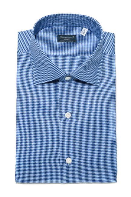 Finamore Andrea Houndstooth Dress Shirt