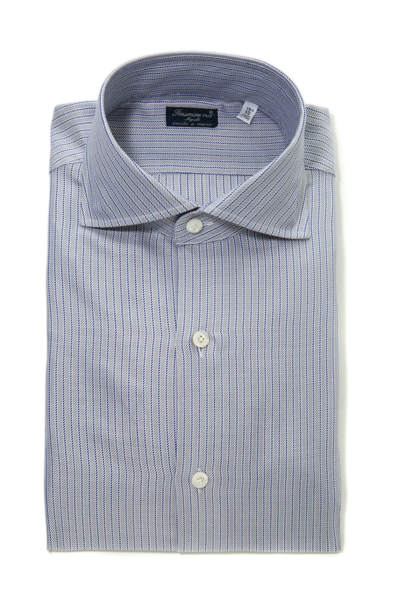 Finamore Gasparre Striped Dress Shirt (323230105624)