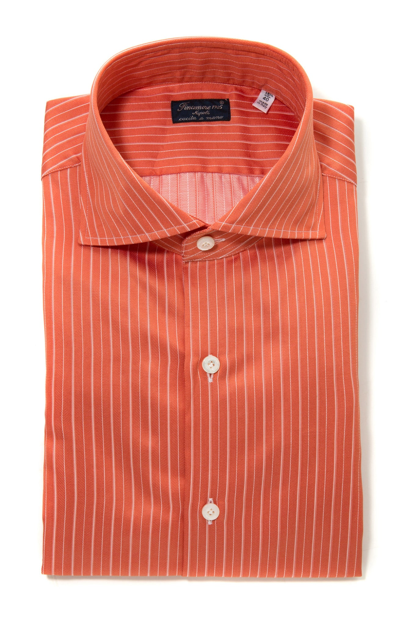 Finamore Lodovico Herringbone Dress Shirt (323236266008)