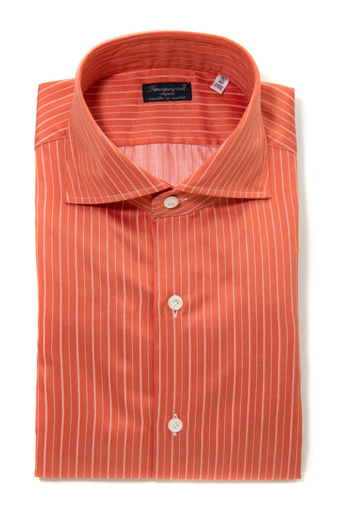 Finamore Lodovico Herringbone Dress Shirt