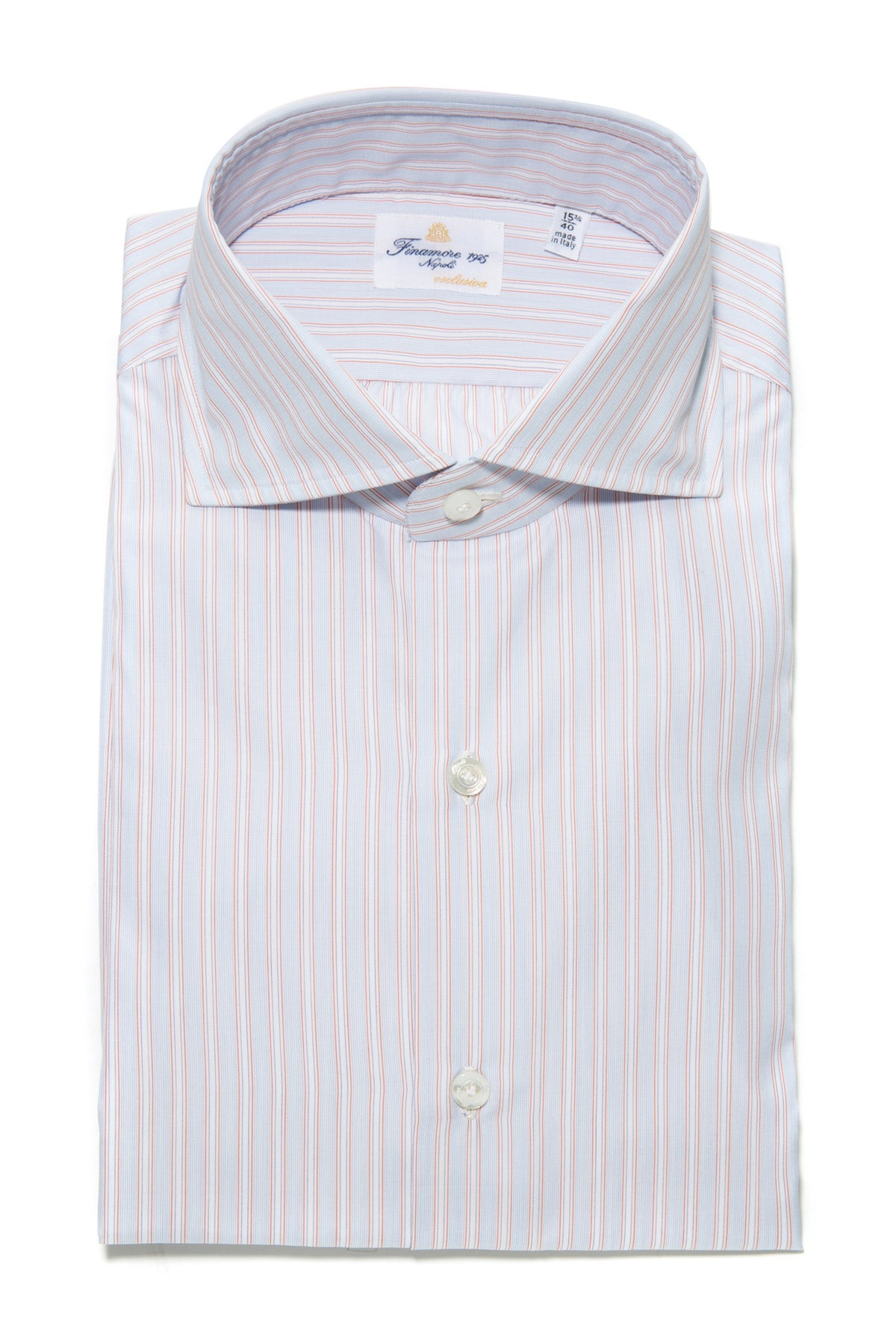 Finamore Rubio Esclusiva Handmade Dress Shirt (322121138200)