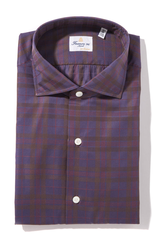 Finamore Trebbia Poplin Dress Shirt