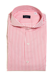 Finamore Sergio Pink/White Stripe Dress Shirt