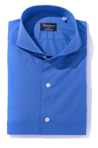 Finamore Blue Gallura Dress Shirt