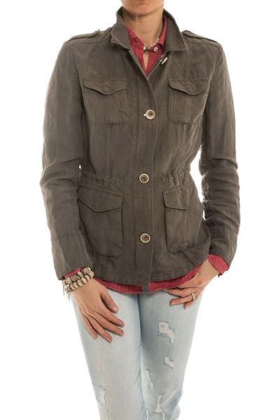 Connor Safari Jacket in Taupe
