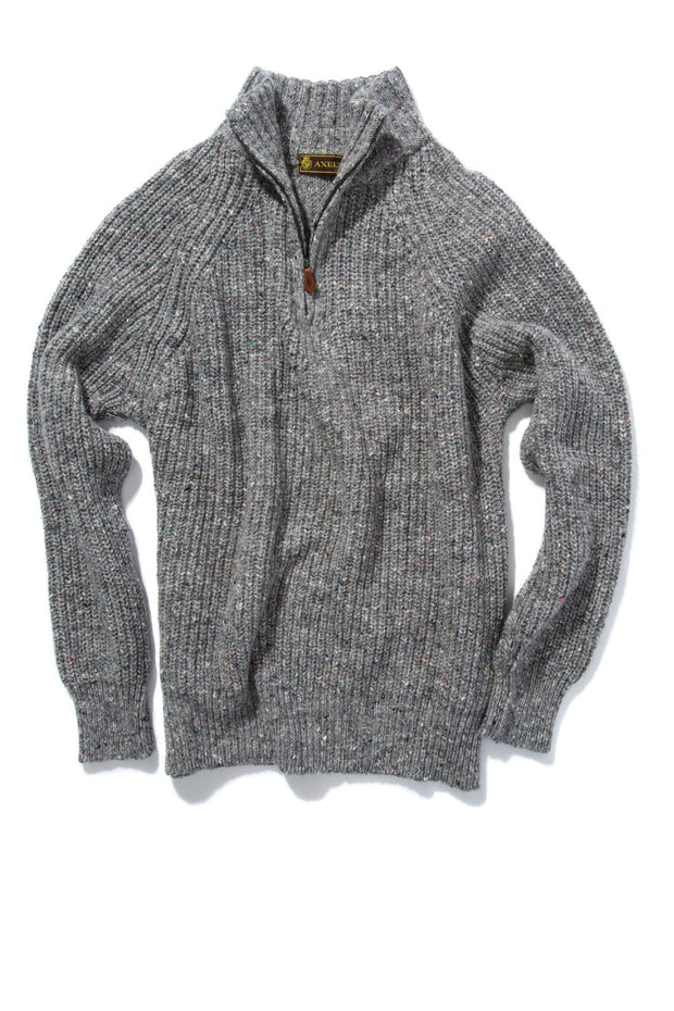 Inis Meain Galway Bay Merino/Cashmere Sweater in Grey