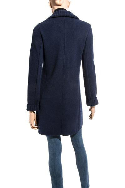 Amaretto Long Cashmere Sweater in Navy