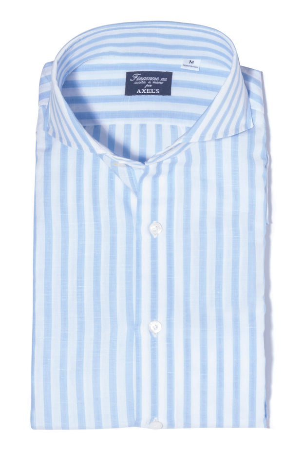 Finamore Mari Ermi Cotton-Linen Dress Shirt