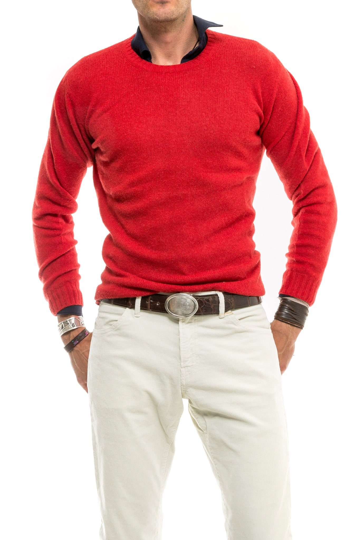 Axel's Bartoli Crew Neck in Red (1477781127261)