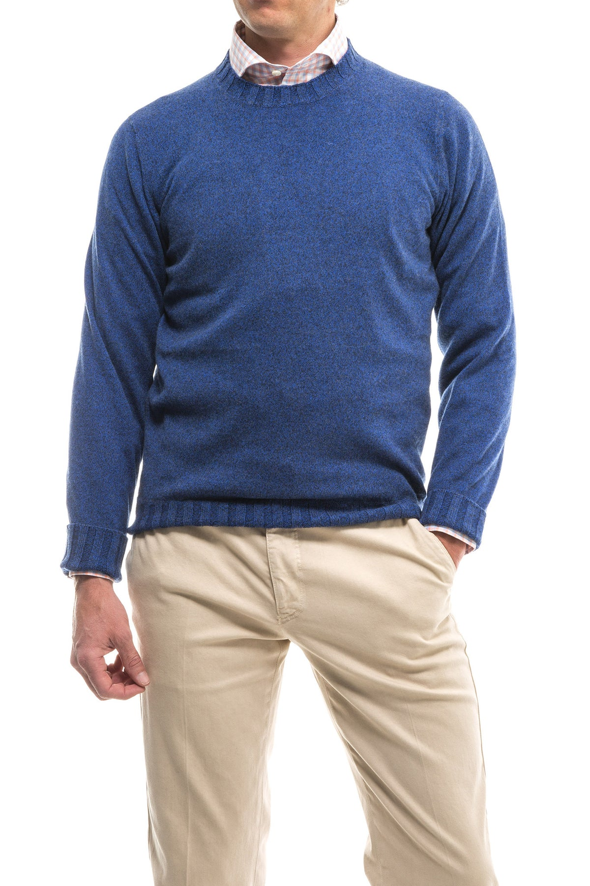 Denima Round Neck Sweater In Electrtic Denim (3580066693213)