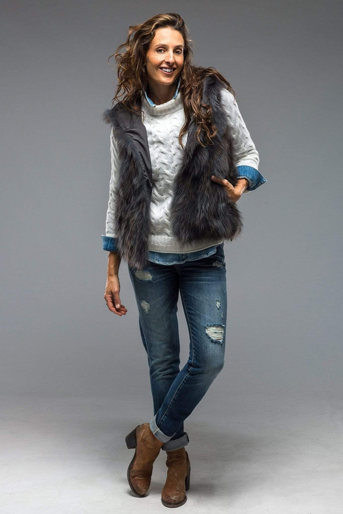 Artico Mirabel Fur Hooded Vest Ladies - Outerwear - Shearling