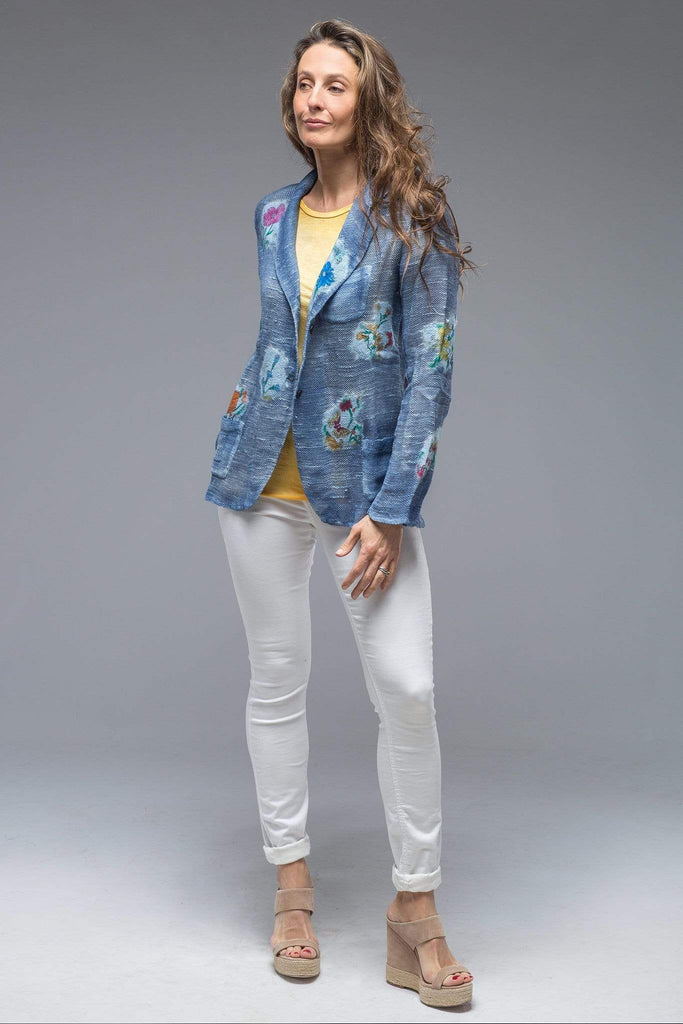 Avant Toi Patches Jacket In Denim Blue Ladies - Tailored - Jackets