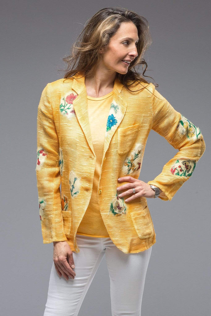Avant Toi Patches Jacket In Yellow Ladies - Tailored - Jackets