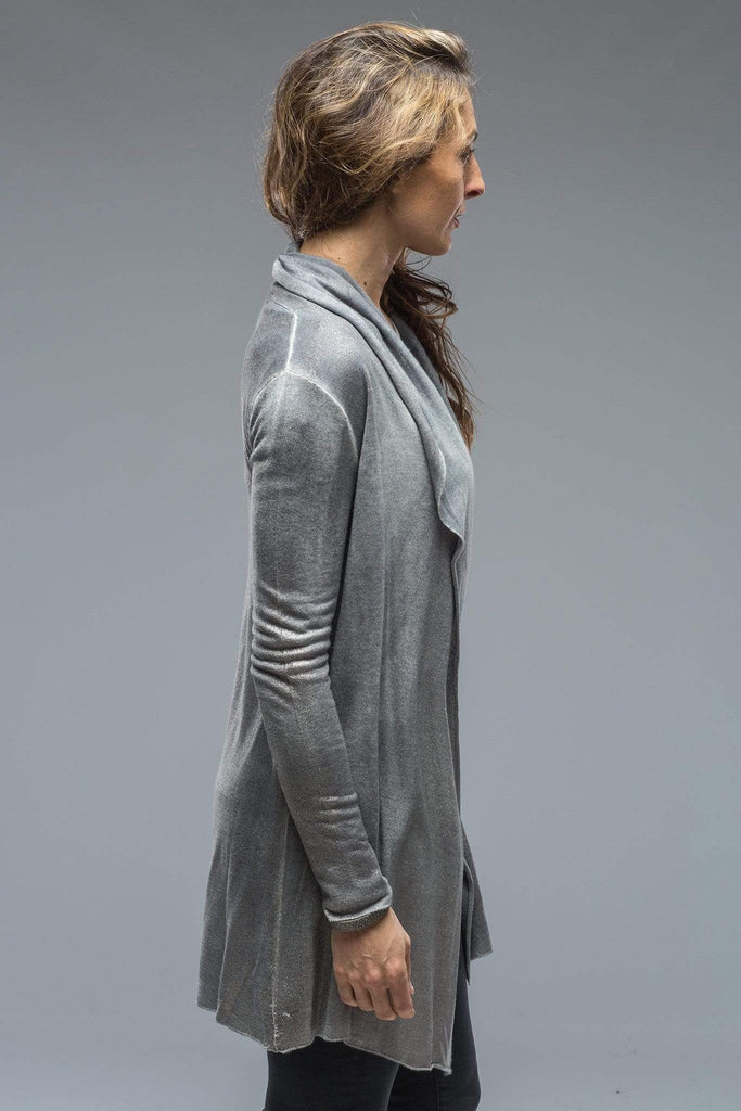 Avant Toi Quin Long Open Cardigan In Grey Ladies - Sweaters