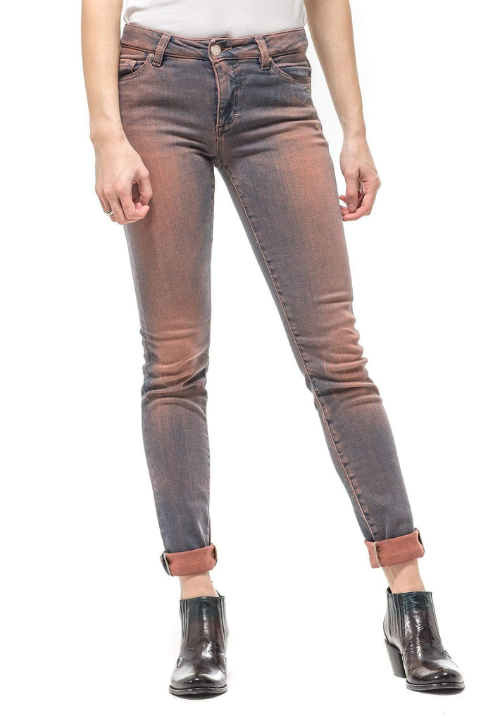 Axel'S Victoria Skinny Selvedge Jean In Orange Indigo Ladies - Pants