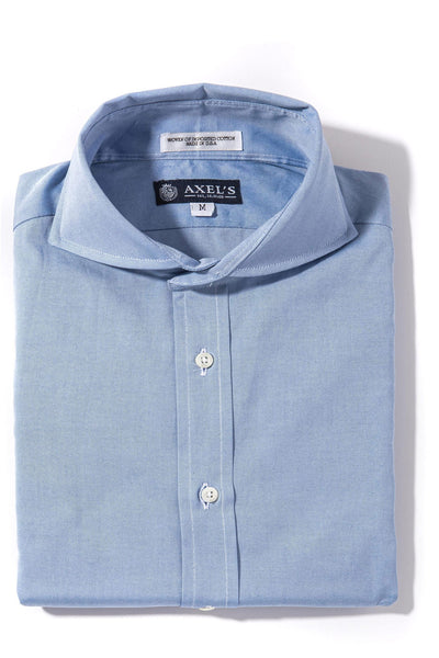 Axels-Is Audubon Pinpoint Oxford Dress Shirt In Blue Mens - Shirts - Outpost