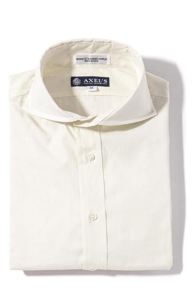 Axels-Is Audubon Pinpoint Oxford Dress Shirt In Eggshell Mens - Shirts - Outpost