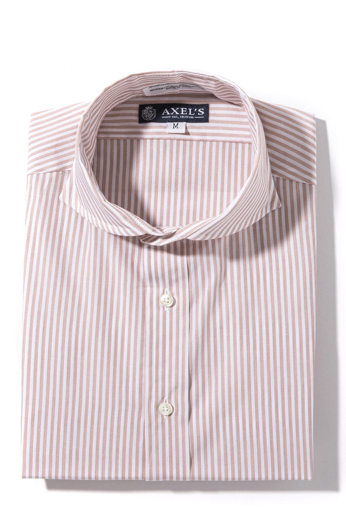 Axels-Is Coras Bengal Dress Shirt In Brown Mens - Shirts - Outpost