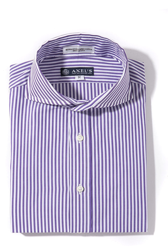 Axels-Is Coras Bengal Dress Shirt In Purple Mens - Shirts - Outpost