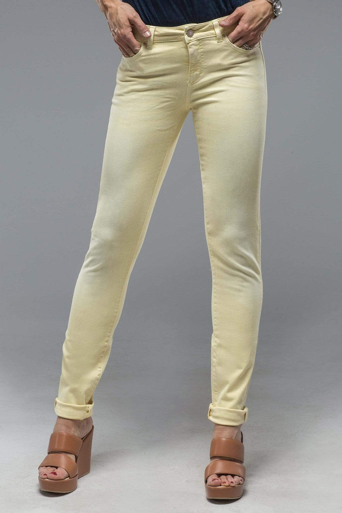Axels Premium Denim Madison Skinny Jeans In Washed Lemon Ladies - Pants