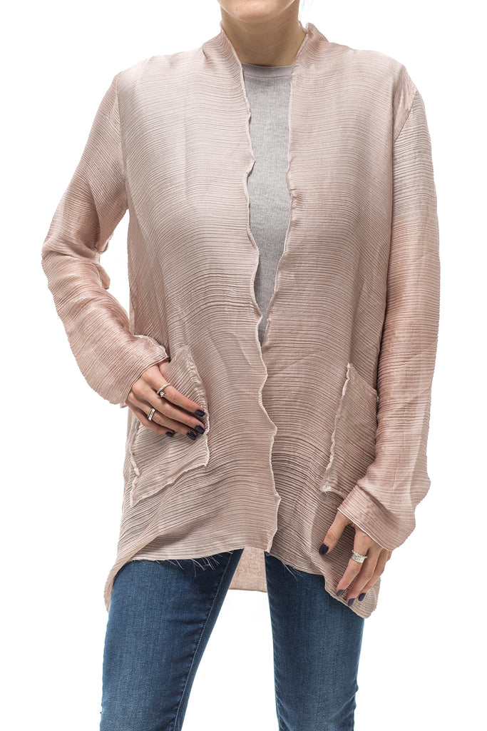 Avant Toi Georgette Open Silk Cardigan (3607203348573)