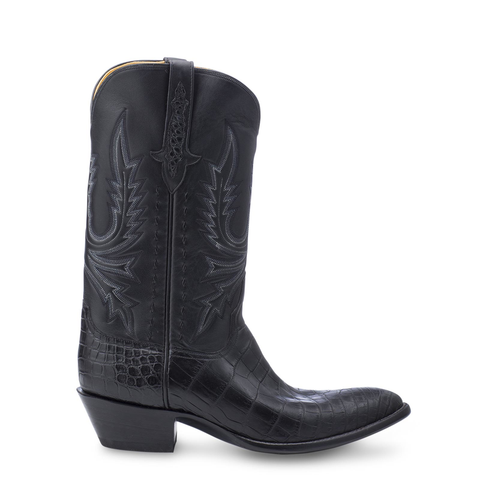 Stallion Boots Black Crocodile Belly