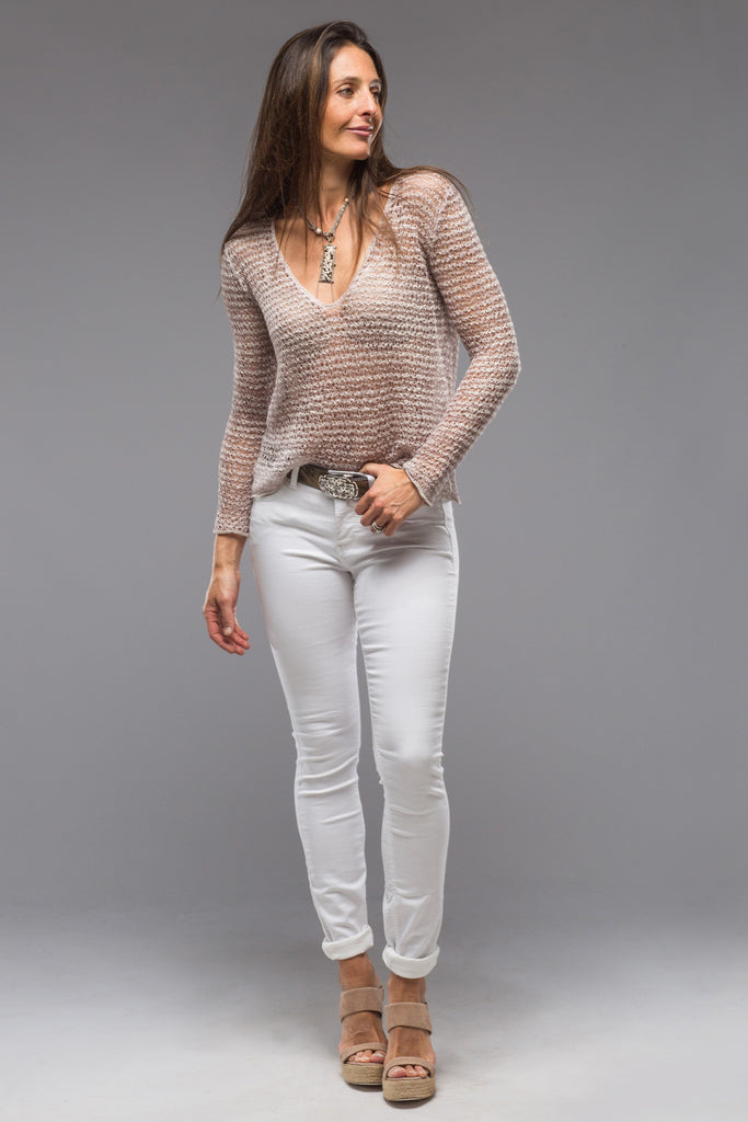 Sardinia Open Weave V-Neck Top (4670877270109)