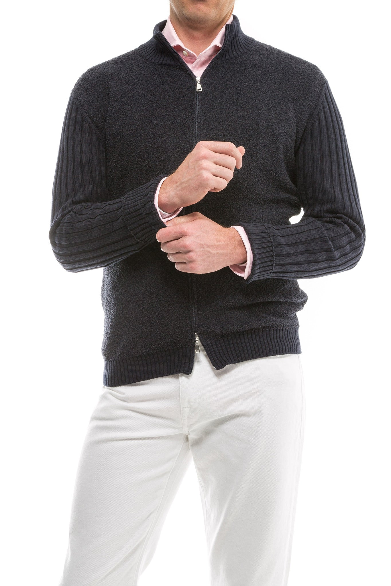 Axel's Burrock Full Zip Ribbed Sweater (2083804184669)