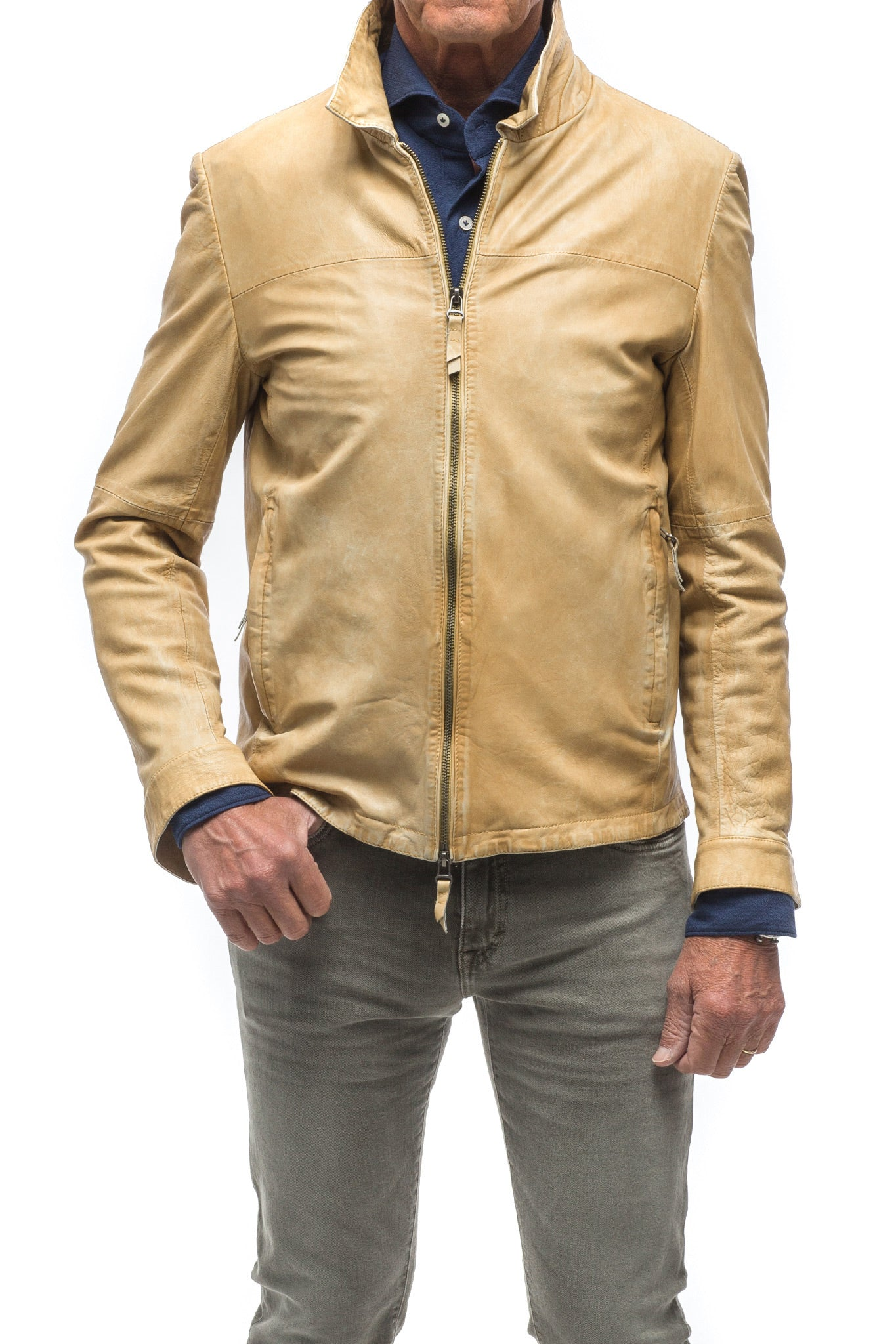 Barberino Garment Washed Nappa In Palomino (4286330732637)