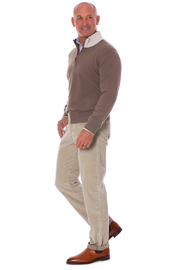 Balotelli Half Zip Cashmere Sweater In Brown