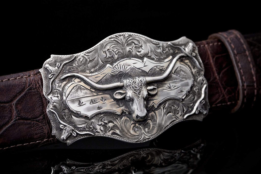 Comstock Heritage Posse Longhorn Trophy Buckle Belts And Buckles - Trophy