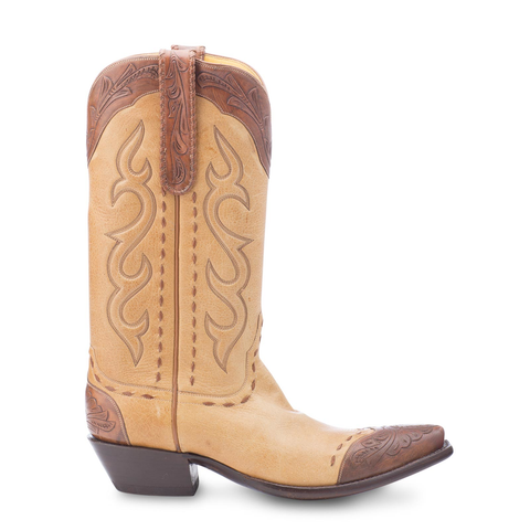 Stallion Boots Hand Tooled Deer Skin - Mens - Cowboy Boots - AXEL'S - 1