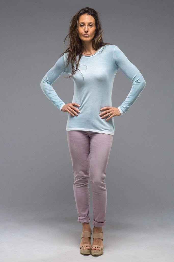 Dune Luna Over Dyed Fine Guage Top In Light Blue Ladies - Tops