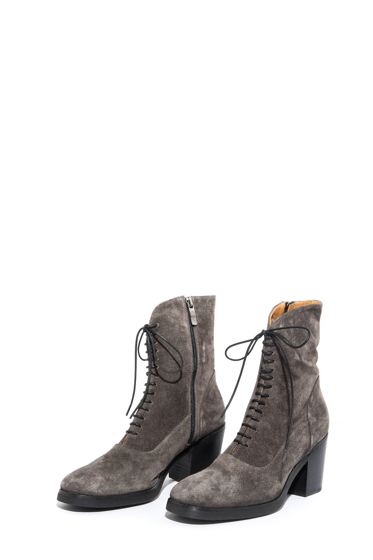 Alberto Fasciani Sandra Grey Suede Lace Up Boot (3558600933469)
