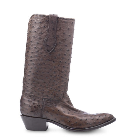 Stallion Boots Chocolate Ostrich