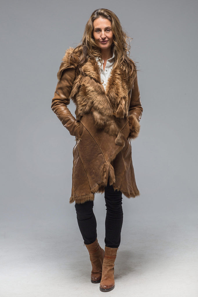 Madonna di Campiglio Shearling Coat In Chestnut (5896053063833)