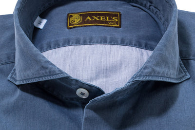 Axel's Patrono Cotton Shirt in Navy