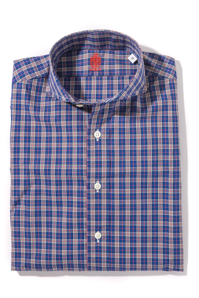 Edgefield Shirt in Navy/Red Multi-Check (4604340174941)