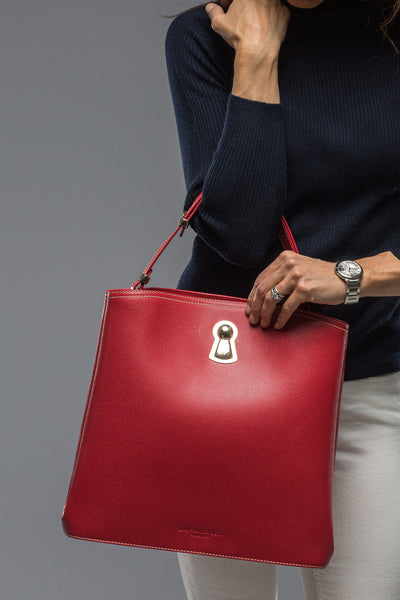 Gianfranco Lotti Poppy Red Square Shoulder Bag