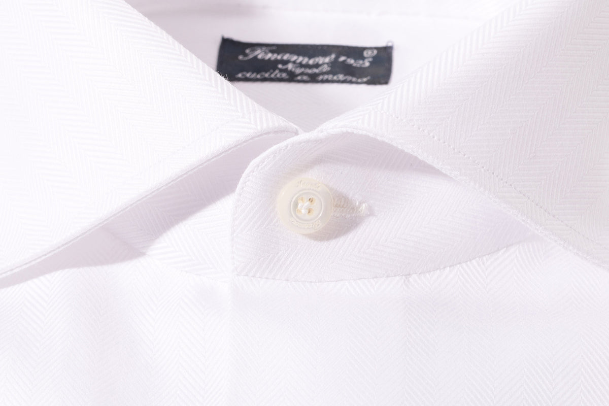 Finamore Oglio Herringbone Dress Shirt (1302610444381)