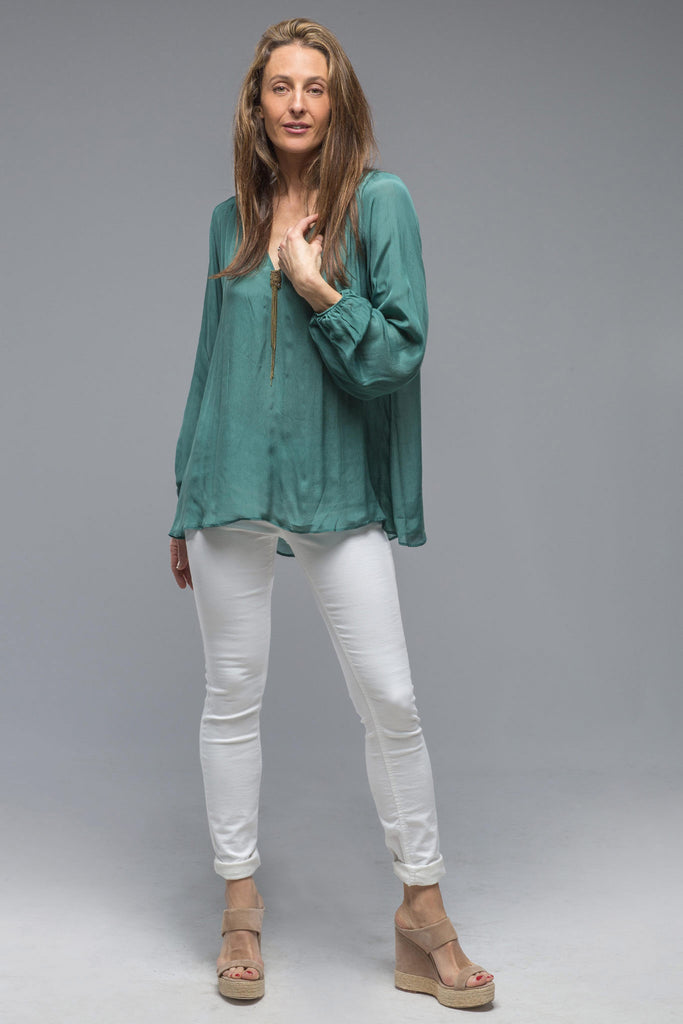 Giselle Shirt In Duck Blue (5858942681241)