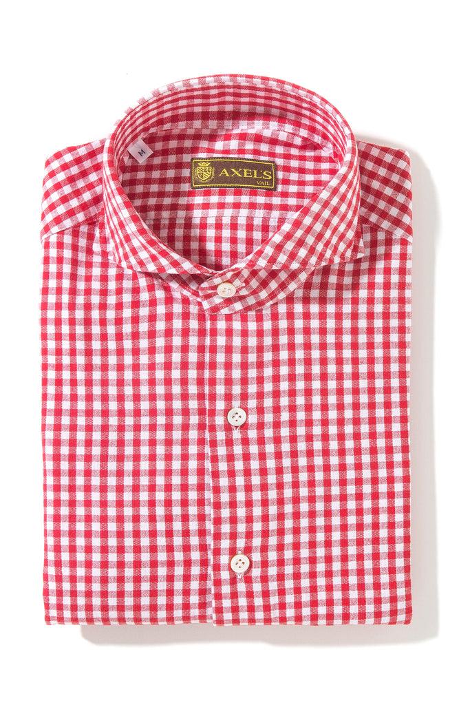 Axel's Farina Cotton Check In Red (3574365847645)
