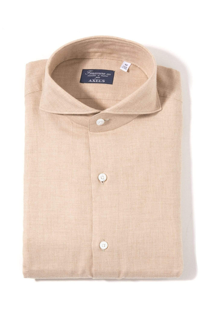 Finamore Napoli Marin Dress Shirt In Brown Mens - Shirts