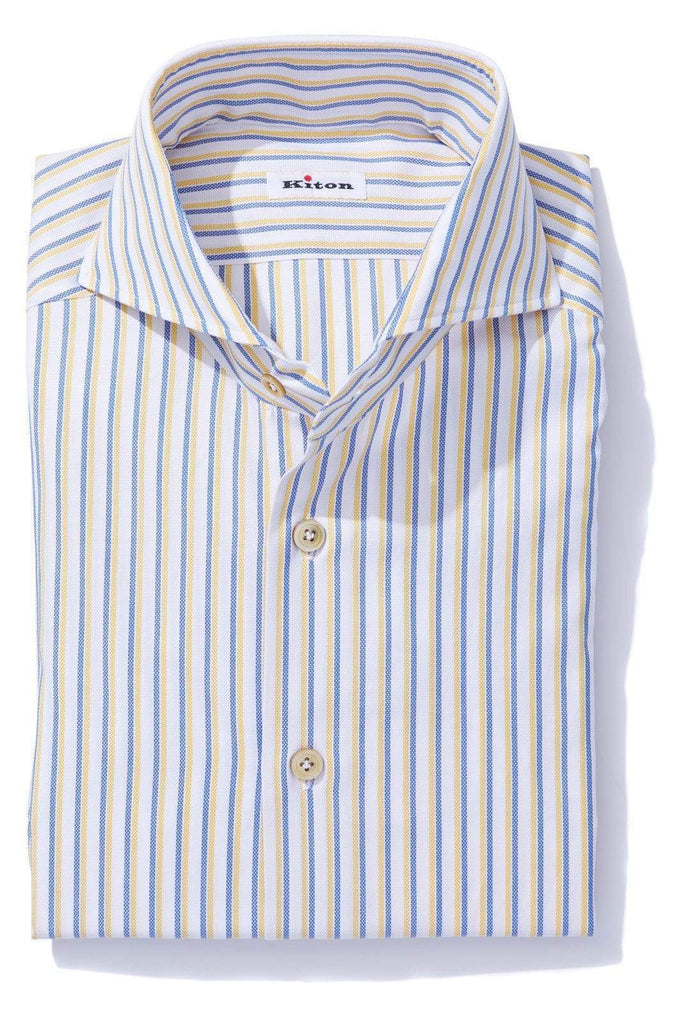 Kiton Cenischia Dress Shirt Mens - Shirts