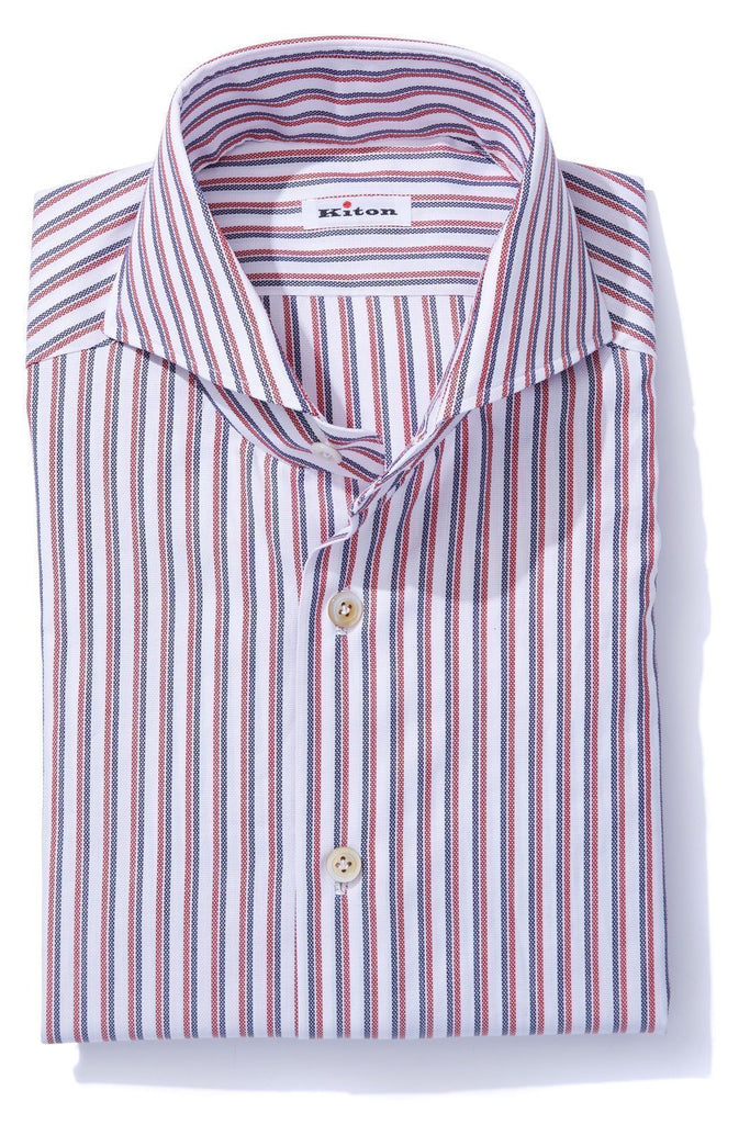 Kiton Rocca Busambra Dress Shirt Mens - Shirts