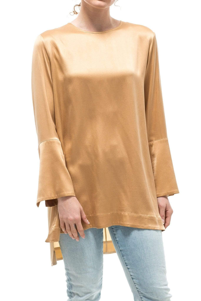 Kiton Ronda Blouse W/ Copper Front and Gold Back Ladies - Blouses