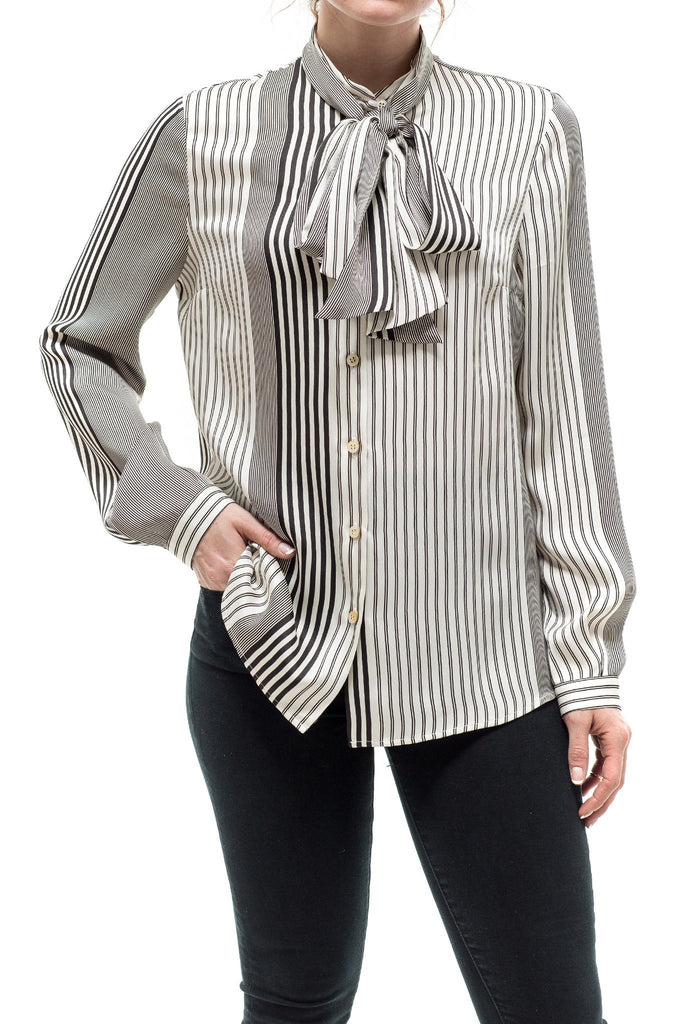 Kiton Sofia Tie Silk Blouse Ladies - Blouses